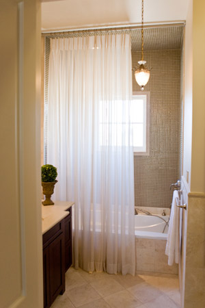 Window drapes curtains drapery panels panel curtain for Master bathroom curtains