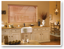 Faux Wood Blinds add warmth to your décor.