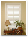 Shutters work well with virtually any décor and offer excellent privacy and light control.