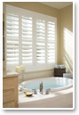 Composite shutters are perfect for high moisture areas like the bath because they resist warping.