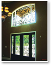 Faux Iron Art makes an ordinary entrance grander!