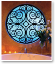 Add a dramatic focal point to your bath by adding Faux Iron Art to your specialty accent window.