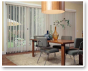 Vinyl vertical blinds are a great option to cover wide windows and sliding glass doors.
